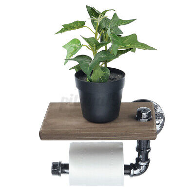 AU22.99 • Buy Wall Mounted Toilet Roll Tissue Holder Stand Bath Paper Holder Phone Shelf Decor