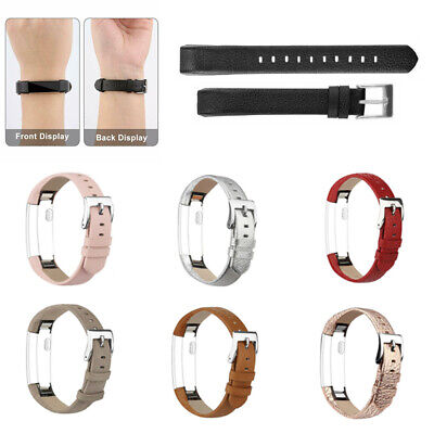 AU7.79 • Buy Replacement Genuine Leather Wrist Watch Bracelet Band Strap For Fitbit HR / Alta
