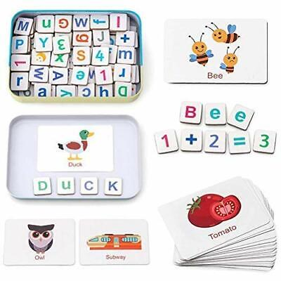 LifeBest Wooden Magnetic Letters And Numbers Toys Kids Fridge Magnets ABC • 16.99£