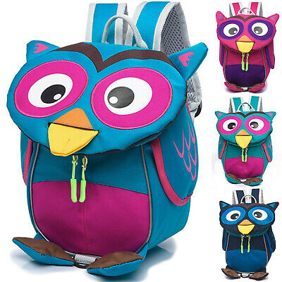 Kids Owl Cartoon Anti-Lost Safety Reins Toddler Boys Girls School Bag Backpack • 11.77£