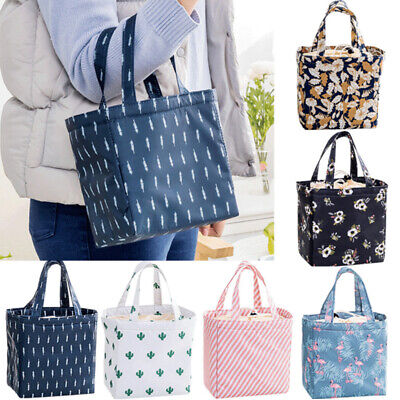 Adults Kids Portable Insulated Lunch Boxes Picnic Tote School Bags Travel Case • 4.27£