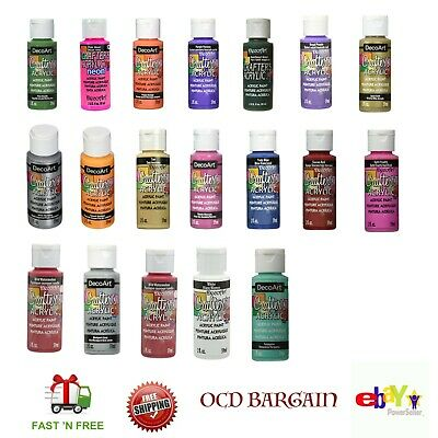 DecoArt Crafter's Acrylic Paint - Water Based & Non-Toxic For Arts (Pack3/6) 2oz • 8.48£