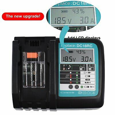 £22.99 • Buy For Makita DC18RC Replacement Fast Battery Charger LCD Screen 7.2V-18V UK Plug`