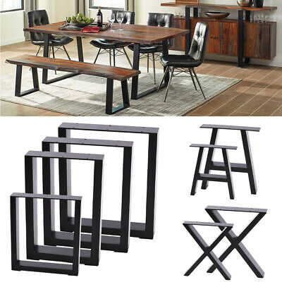 2X Coffee Table Legs Bench Metal Industrial Rustic X Type Trapezoid Square Legs • 79.95£
