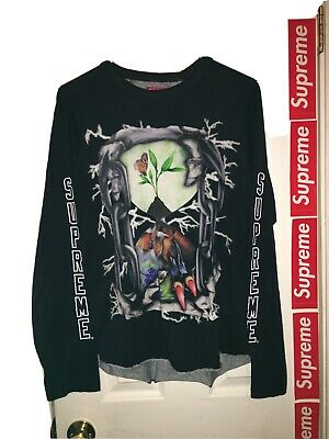 $ CDN84.34 • Buy SUPREME L/S Black Size Small Hour Glass Chains Tee T-shirt AUTHENTIC RARE