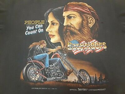 $ CDN167.50 • Buy VTG 90s 1992 Easyriders Motorcycle Biker T Shirt Black Large Harley Davidson USA
