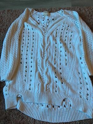 Next Small Chunky Knit Jumper Top Slouchy • 1.10£