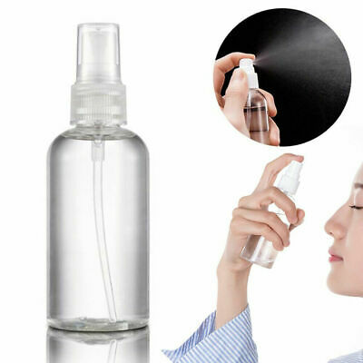 50/100ML Travel Transparent Plastic Perfume Atomizer Empty Small Spray Bottle • 2.99£