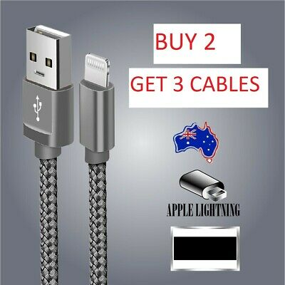 Fast USB Charger Data Cable Lead 1m 2m 3m For IPhone 5 6 X 7 10 IPod Touch Nano • 2.29£