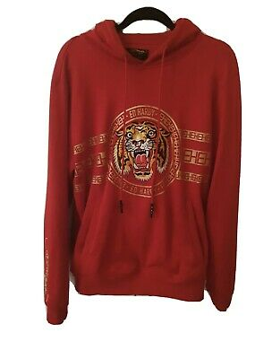 Ed Hardy Hoodie Size M Red 100% Cotton • 35£