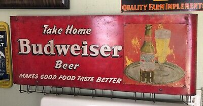 $ CDN1526.04 • Buy Vintage Budweiser Sign Bag Holder ~~ Rare HTF