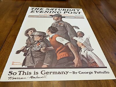 """$ CDN195.51 • Buy Signed Norman Rockwell/The Saturday Evening Post """"When Johnny Comes Marching"""""""