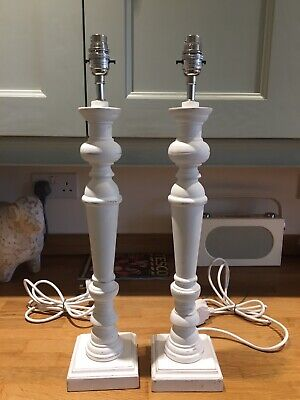 Laura Ashley Tate Wooden Lamp Bases X 2 • 36£
