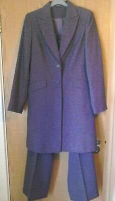 Ladies NL Collection Lilac Trouser Suit With 3/4 Length Jacket - Size 10/12 • 35£