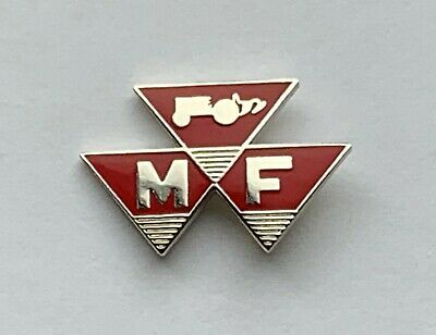 Red Massey Ferguson Triple Triangle Pin Badge.  • 4£