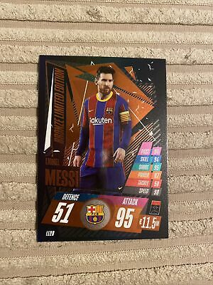 Match Attax 20/21 Rare Messi Bronze Limited Edition Le2b • 0.75£