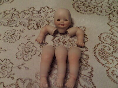 $ CDN14.36 • Buy Porcelain Handpainted Doll Parts - Head,  Arms, Legs + Extra Leg - Tongue Out