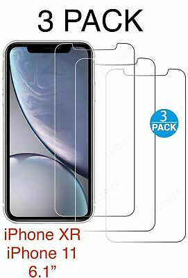 3-Pack For IPhone XR IPhone 11 Screen Protector Tempered Glass Protectors Cover • 1.98£