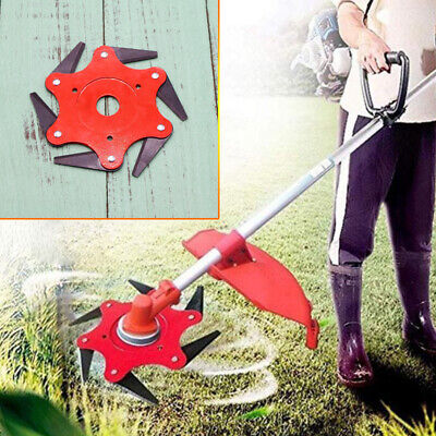 AU28.66 • Buy 6 Steel Blade Razors 65Mn Lawn Mower Grass Eater Trimmer Head Brush Cutter Tools