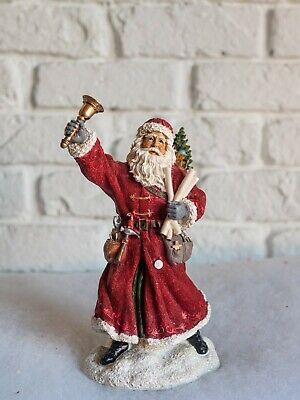 Santa Ringing Bell Christmas Ornament Perfect On Your Mantlepiece • 19.99£