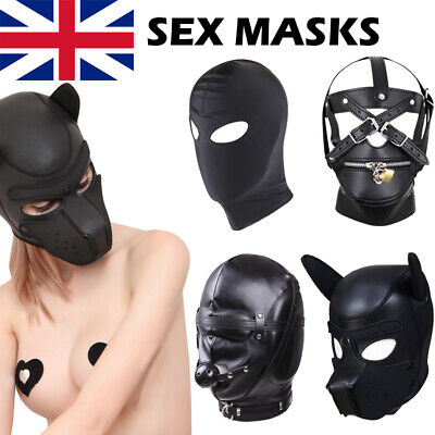 New Rubber Role Play Headgear Sex SM Leather Mask Puppy Cosplay Full Balaclava • 8.80£