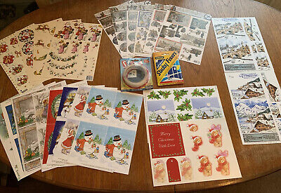 Craftroom Clearout CHRISTMAS CARD MAKING Bundle Job Lot /3D Decoupage & More #5 • 3.40£