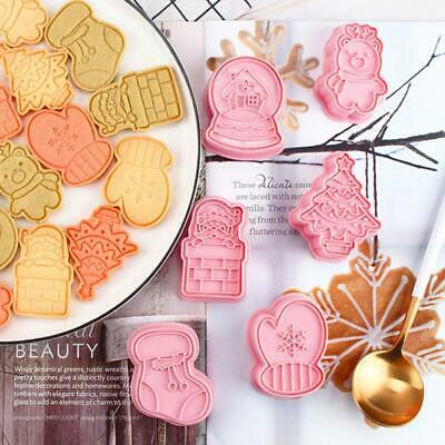 £6.87 • Buy 6Pc   Cookie Biscuit Plunger Cutter Mould Fondant Cake Mold Baking -UK