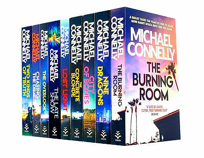 Michael Connelly Harry Bosch Series 9 Books Collection Set Pack Burning Room • 26.99£