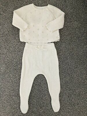Zara Baby Girls Knitted Outfit 0-3months • 4£