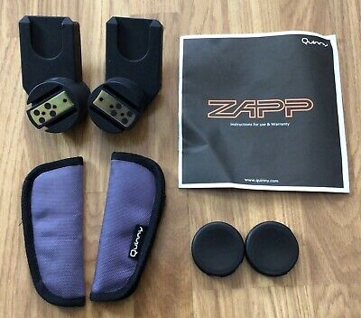 Quinny Zapp/ Zapp Xtra Car Seat Adapters, Strap Pads, Hood Covers & Instructions • 19.99£