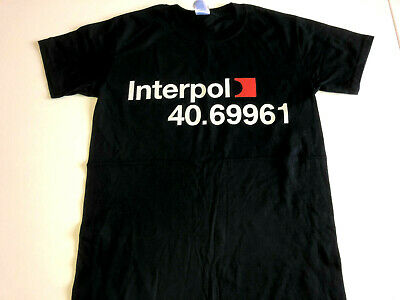 INTERPOL 40.69961 T SHIRT Small Mens New ROCK BAND INDIE • 2.99£