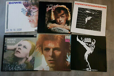 David Bowie 6 X LPs Station To Station,Young Americans,Man Who Sold,Hunky Dory • 89.95£