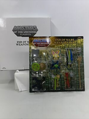 $49.95 • Buy Masters Of The Universe Classics End Of Wars Weapons Pak W Mailer MOTU Moc