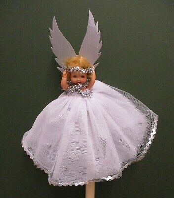 1950's Vintage Fairy Roddy Doll For The Top Of The Christmas Tree   • 21£