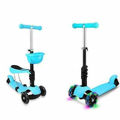 STOTOY Toddler Scooter Deluxe 3 Wheel 3-in-1 Micro Scooter With Removable Seat, • 52.99£