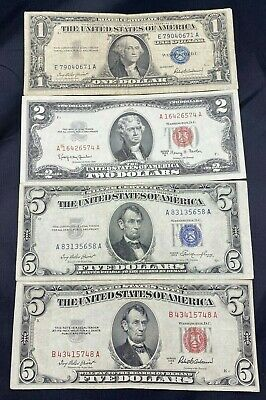 $ CDN51.02 • Buy US Paper Currency Collection $5 Dollar Blue 5 Dollar Red Seal 2 Dollar Red Seal