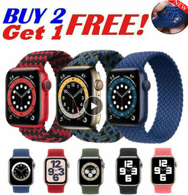 AU14.99 • Buy Braided Solo Loop Strap For IWatch Apple Watch Series 6 5 4 3 2 1 SE Nylon Band