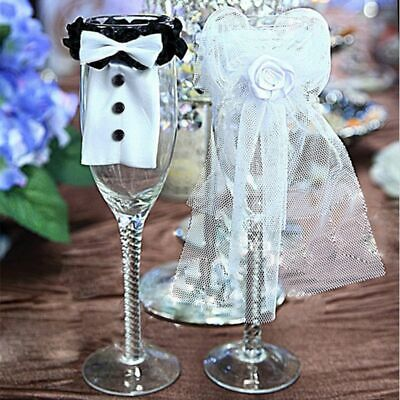 £13.66 • Buy Bride Groom Wedding Engagement Party Table Cup Glass Cover Party Diy Decorations