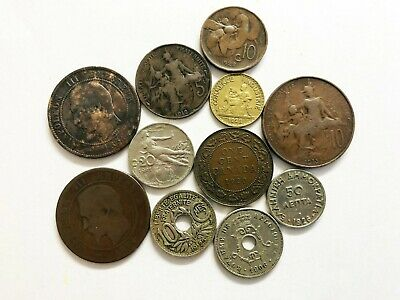 11 Old Foreign Coins 1854,56,1906,12,15, 20, 21,22, 22, 23, 26 • 1.99£