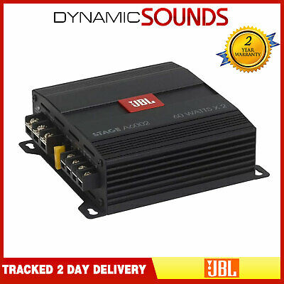JBL Stage A6002 – 280 Watts 2 Channel Amplifier For Speakers Or Subwoofer • 79£