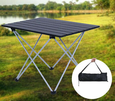 Portable Aluminum Folding Table Roll Up Outdoor Camping BBQ Picnic Party Tool UK • 16.98£