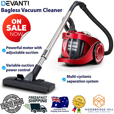AU81.02 • Buy New 2800W Vacuum Cleaner Bagless Cyclone Cyclonic Vacuum Handheld Bag Less Red