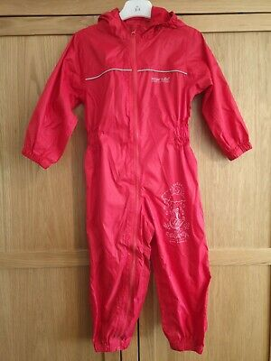 Regatta Red Puddle Waterproof Suite All-in-one. Aged 3-4 • 6.01£