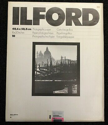 77. Ilford Multigrade II Glossy 10 Sheet Box 16 X20  Darkroom Photographic Paper • 19.99£