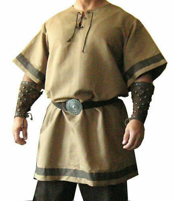 Medieval Viking Camel Color Tunic Costume For Armor Clothing Reenactment Costume • 35.30£