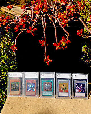 Yu-gi-oh! Cards Lot Of 5 2004-13 Graded Yugioh Bccg BGS 10 Mint Collection PSA? • 63.63£