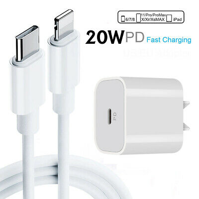 AU19.98 • Buy 20W PD Fast Charger USB-C To 8 Pin Cable For IPhone 12 11 Pro Max IPad Pro AU SH
