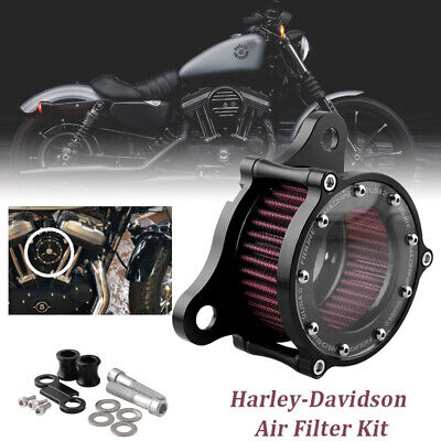 $30.99 • Buy For Harley Davidson Sportster XL 883 XL1200 48 Motorcycle Air Filter Air Cleaner
