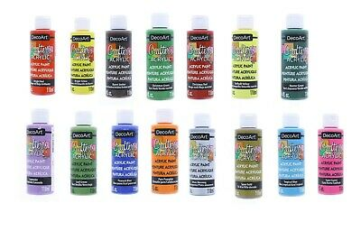 DecoArt Crafter's Acrylic Paint - Water Based & Non-Toxic For Art (Pack 3/6) 4oz • 16.44£