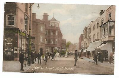 Berkshire - MAIDENHEAD,  BUSY HIGH STREET  Used 1914 • 2.25£